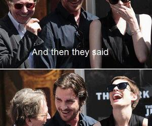 Anne Hathaway, tdkr, and christian bale image