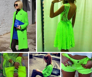 neon, green, and dress image