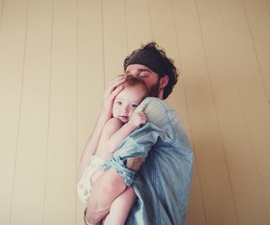 baby girl, love, and dad image