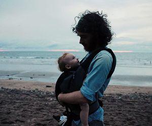 baby girl, love, and beach image