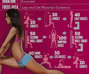 workout, fitness, and legs image