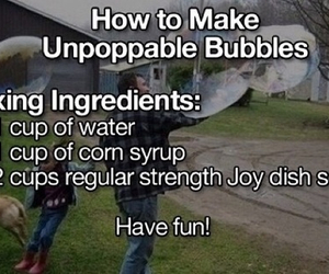 bubbles and diy image