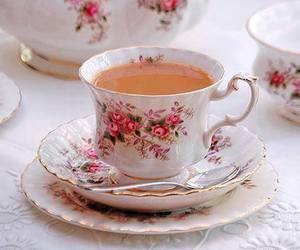 tea, cute, and flowers image