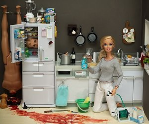 barbie, ken, and blood image