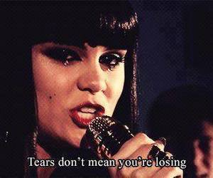 jessie j, tears, and quote image