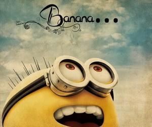 minions, banana, and despicable me image