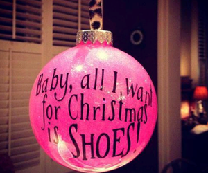 christmas, shoes, and pink image
