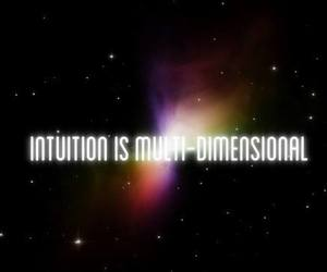 galaxy, universe, and intuition image