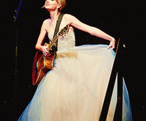 Taylor Swift, dress, and guitar image