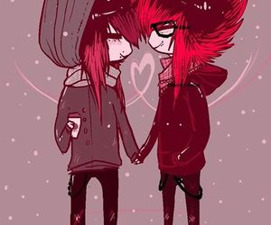 emo and love image