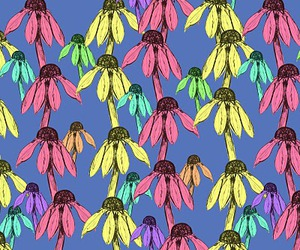 flowers, funky, and repeat image