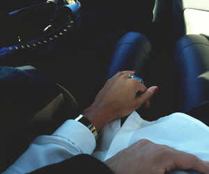 car, leather pants, and couple image