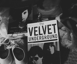 black and white, bob dylan, and the velvet underground image