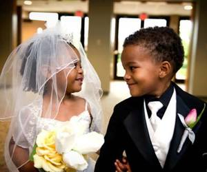 cute, wedding, and kids image