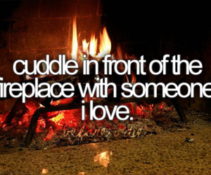 love, fireplace, and cuddle image