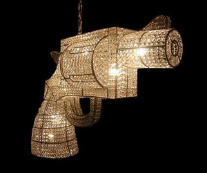 chandelier, gun, and crystal image