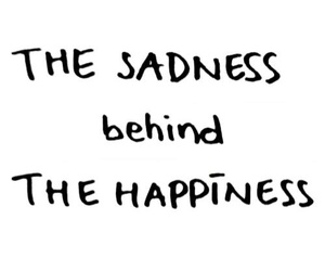 quote, happiness, and sadness image
