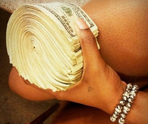 dollars, rich, and girl image