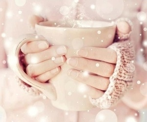 winter, pink, and cup image