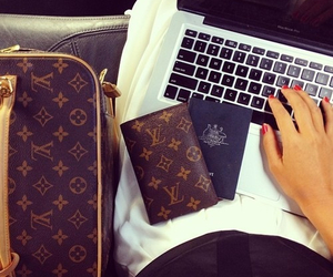 girl, work, and louisvuitton image