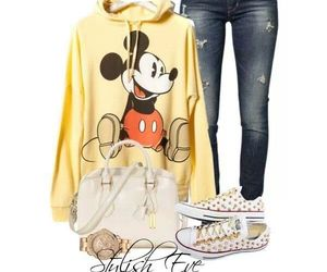 fashion, mickey mouse, and style image