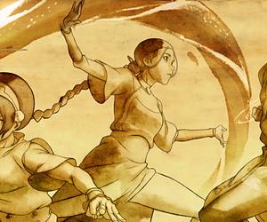 avatar, toph, and zuko image