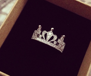 ring, crown, and luxury image