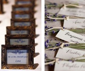 bride, favors, and photo frames image