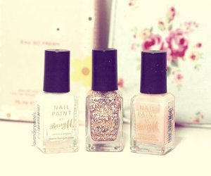 barry m, peach, and glitter image