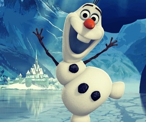 frozen, olaf, and snowman image