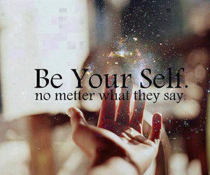 quote, be, and be yourself image