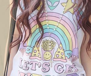like, fashion, and rainbow image