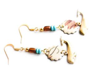 nautical jewelry, whale jewelry, and nautical image