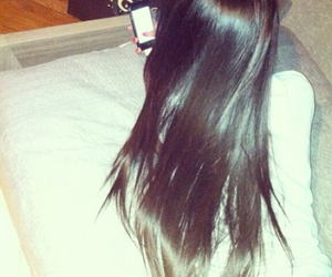 black hair, ghd, and longhair image
