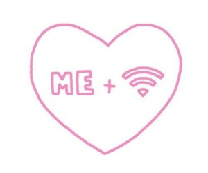 love, wifi, and me image