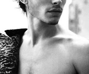 ezra miller, black and white, and boy image