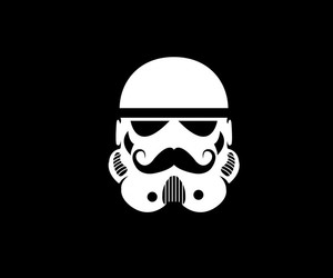 black and white, lol, and star wars image