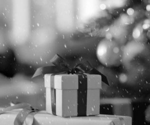 black and white, christmas, and snow image