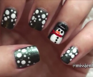 christmas, nail art, and nail polish image