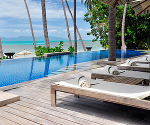 luxury, beach, and pool image