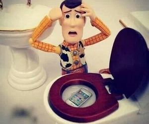 iphone, toy story, and woody image