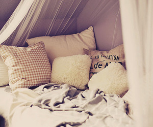 bed, pillow, and bedroom image