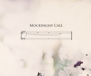 hunger games, mockingjay, and flowers image