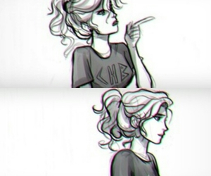 percy jackson, wise girl, and annabeth chase image