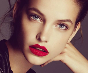 barbara palvin, model, and red lips image