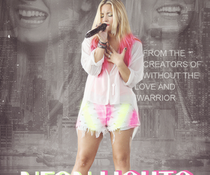 pink, hair pink, and demi lovato neon lights image