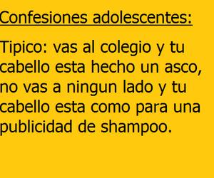 shampoo, colegio, and cabello image