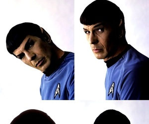 leonard nimoy, spock, and star trek image
