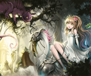 alice in wonderland, anime, and magical image