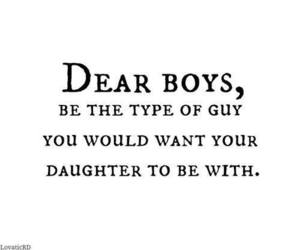 quote, boy, and daughter image